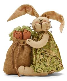 Look what I found on #zulily! Logan the Gatherer Rabbit Figurine #zulilyfinds