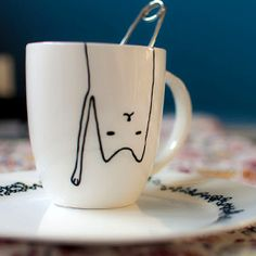 adorable diy-project for children and crazy cat ladies: porcelain painting (in German)