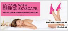 Even Miranda Kerr enjoys the Skyscape Runaround by @Reebok USA