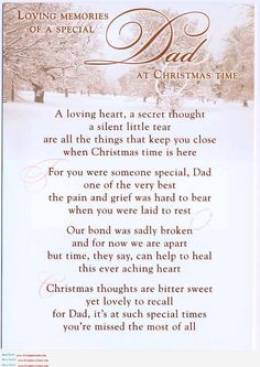 I miss my dad every day but Christmas time especially :'(