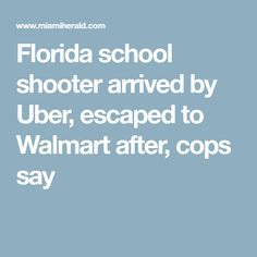 Florida school shooter arrived by Uber, escaped to Walmart after, cops say