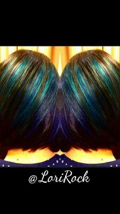 Peacock peekaboos #pravanavivids #purplehair #hair