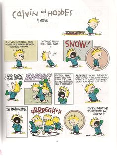 Looking back, I'm pretty sure Calvin and Hobbes made me feel ok about bring atheist.
