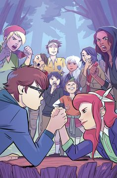 The Lumberjanes and Gotham Academy kids have to fight it out with the chaperones when Louise has a temper tantrum.