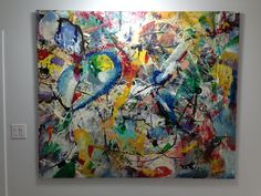 """original Abstract painting by Hungarian artist  ISTVAN - Galaxy - 52""""x62"""" www.gallery36.ca"""