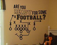 Football Decal - Boys Room Decor -Bedroom Decor -Football Decor ...
