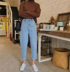 To School Outfit jeans Comfy Jean Outfits Bequeme Jean-Outfits Mode Outfits, Retro Outfits, Vintage Outfits, Casual Outfits, Vintage Jeans, Fashion Vintage, Retro Fashion, Hipster Fall Outfits, Casual Autumn Outfits Women