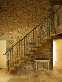 Les Prevosts Farm - Farmhouse - Staircase - Channel Islands - CCD Architects