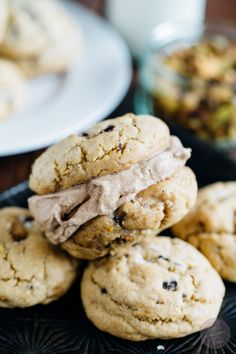 Salted pistachio dark chocolate chunk cookies from the Simply Scratch ...