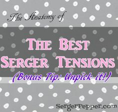The anatomy of the perfect serger tension, from SergerPepper.com on sewmccool.com