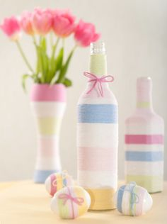 Cute Idea for Spring! Can change yarn color for the seasons.