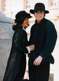 Michael Jackson and then wife Lisa Marie Presley visiting The Chateau De Versailles in France, September 1994.