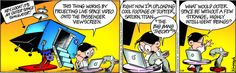 """""""Hey look! It's an outer space simulator! #humor #comicstrips #comics"""