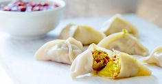 Momos are a Nepali steamed dumpling popular in other South Asian countries like Tibet and India. Recently they've become a bit of a street food trend and it's no wonder why! Their spicy, fragrant flavours make them incredibly moreish. This recipe give you easy DIY step by steps to cook them at home. We use turkey mince but any ground mince you fancy can be used. Hope you like 'em.