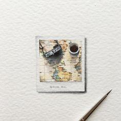 "566 Likes, 26 Comments - Irene Malakhova (@irene_mia_) on Instagram: ""Day 79/120 (20/30 #tiny_yummydays series). ""The best memories"". Polaroid, photo. Size 29 x 33 mm.…"""