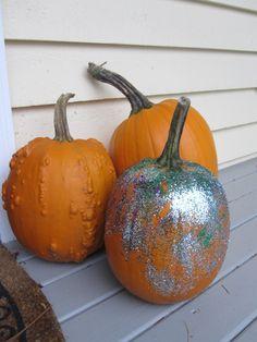 Glitter Pumpkin For Toddlers