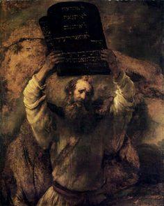 Hermansz. van Rijn Rembrandt - Moisés con las tablas de la Ley