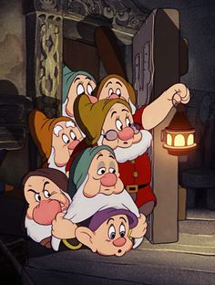THE SEVEN DWARVES ~ Snow White and the Seven Dwarf's, 1937