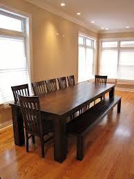 dining table rustic dark