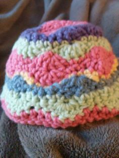 Crocheted Multicolor baby beanie cap
