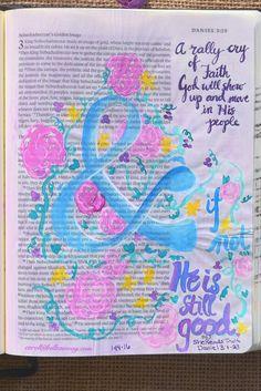 Daniel 3:18 January 14, 2016 carol@belleauway.com, watercolor, bible art journaling, bible journaling, illustrated faith