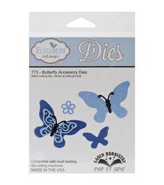 Elizabeth Craft Designs Pop It Up Metal Butterfly Accessory Dies