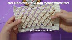 Her Gönülde Bir Aslan Yelek Modelleri Baby Cardigan, Crochet Cardigan, Baby Blanket Crochet, Crochet Flower Tutorial, Crochet Flowers, Baby Knitting Patterns, Crochet Designs, Fingerless Gloves, Arm Warmers