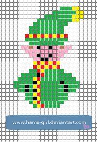 Xmas Elf perler pattern by Hama-Girl on deviantART