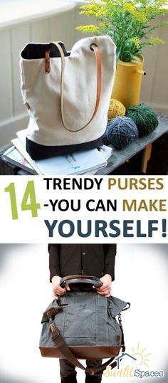 DIY Purses, DIY Purse Projects, How to Make Your Own Purse, Trendy Purses, DIY Fashion, DIY Purse Tutorials, How to Sew A Purse, Sewing Projects, Easy Sewing Crafts, Cute Sewing Projects