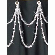 Shower Curtain Bling or Tub/Shower Header Bling..... Double Swag Custom order #ShowerCurtainBling