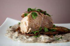Creamy Mushroom Peppercorn Pork Chops
