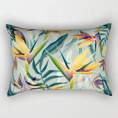 Bird of Paradise Pattern Variant 2 Rectangular Pillow