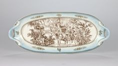 """Antique style Chinoiserie Chinese Oval Platter Ornate Edwardian Mark 37cm/14.75"""" #Chinoiserie #Platter"""