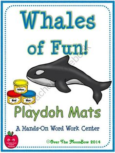 Whales fo Fun Giveaway!! Enter for your chance to win.  Whales of Fun! Playdoh Activity Pack (16 pages) from overthemoonbow on TeachersNotebook.com (Ends on on 6-7-2014)  Enter to win the Whales of Fun! Playdoh Activity Pack!  Your students will love these whale focused playdoh mats that will help them learn species vocabulary and develop their fine motor skills; a perfect complement to your science & seasonal themed activities!