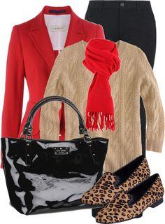 """Red blazer"" by luv2shopmom on Polyvore"
