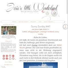 http://josieslittlewonderland.blogspot.de/2015/06/sunny-sunday-47.html?m=0  The Link to a new sunny sunday post. A small week review