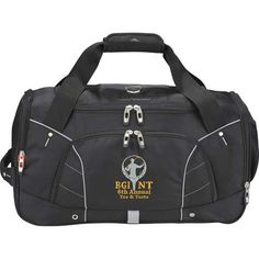 The High Sierra® Elite Tech-Sport duffel is made from high quality materials and hardware. Features a large main compartment and dedicated Tech Spot™ for your iPad or other tablet on the end. Duffel Bag, Corporate Gifts, Leeds, Diy Fashion, Gym Bag, Tech, Sports, Coolers, Bags