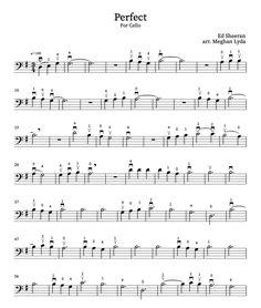 Beginner Violin Sheet Music, Trombone Sheet Music, Viola Sheet Music, Easy Sheet Music, Cello Music, Sheet Music Notes, Music Sheets, Ed Sheeran, Cello Noten