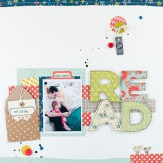 the large block title  Repinned from Sue  Love the large letters - great way to use some of that large chipboard in my stash.