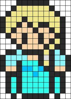 Queen Elsa Perler Bead Pattern | Bead Sprites | Characters Fuse Bead Patterns