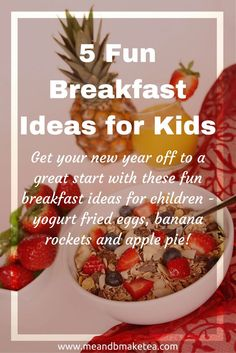 """To kick off the New Year we will share a few of our favourite recipes and ideas from last year with you. Today we start with our favourite """"healthy(ish!) breakfast ideas"""".  If your fed up of cereal and toast then why not try out some of these cute ideas w"""