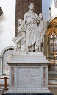 Tomba di Leon Battista Alberti - Firenze Basilica di Santa Croce #TuscanyAgriturismoGiratola