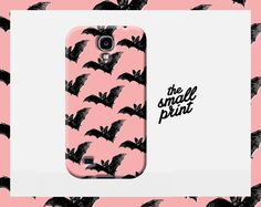 BAT Samsung case, Goth Girl phone case, Vampire Samsung Galaxy S4 case, Bat pattern, Gothic Phone case, Animal cell case, Grunge Cell Cover by TheSmallPrintCases on Etsy https://www.etsy.com/listing/201916268/bat-samsung-case-goth-girl-phone-case