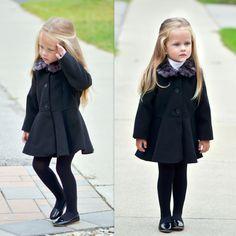 Miss Michelle in our Kardashian Kids coat