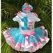 Girls Birthday Pink Owl Whimsy Elegance Tutu Set