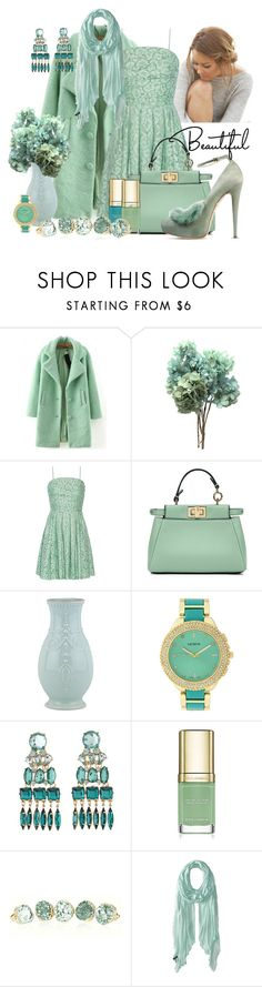"""Minty"" by kimberlyn303 ❤ liked on Polyvore featuring Lauren Conrad, WithChic, Boutique Moschino, Fendi, Lenox, Geneva, Charlotte Russe, Dolce&Gabbana, John Galliano and Celtek"