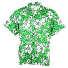Lime - could we get boys to wear lime/aqua or hot pink shirt all with orange Target boardshorts ?? Hawaiian Shirt Aloha Beach Big Chaba Hibiscus Leisure Green M hb234t #sbds #ButtonDownShirt #Casual