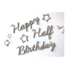 *** * * ハーフバースデーのオーダー⚘ * ギリギリのお届けにも関わらず お待ちいただきありがとうございます♡ * 今年も至らない点があるかと思いますが どうぞよろしくお願いします^_^ * #Petit__Etoile #halfbirthday #ウールレター #ハーフバースデー #kidsparty #handmade