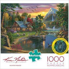 Buffalo Games, Hidden Images, Puzzle Shop, Thomas Kinkade, Puzzle Toys, Puzzle Pieces, Party Games, 1000 Piece Jigsaw Puzzles, Paradise