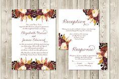 Autumn Berry Wedding Invitation Set